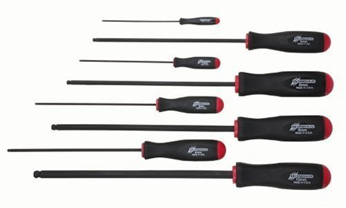 Bondhus 10733 Set of 8 Balldriver Screwdrivers, ProGuard Finish, Long Length, sizes 2-10mm by Bondhus (Bondhus 4 Mm Balldriver)