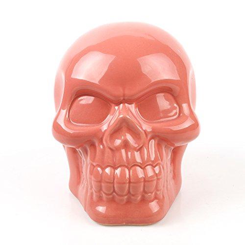 MagiDeal Gothic Keramik Schädel Deko Sparbüchsen Geld Münze Piggy Bank für Erwachsene oder Kinder - Rosa, 14 * 10 * 12cm