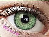 """Farbige Kontaktlinsen Monatslinsen grün hellgrün smaragdgrün """"Emerald Green"""" ohne Stärke mit Aufbewahrungsbehälter"""