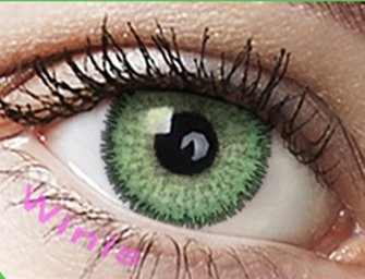 """Farbige Kontaktlinsen 3 - Monatslinsen (grün hellgrün smaragdgrün """"Emerald Green"""" ohne Stärke mit Aufbewahrungsbehälter)"""