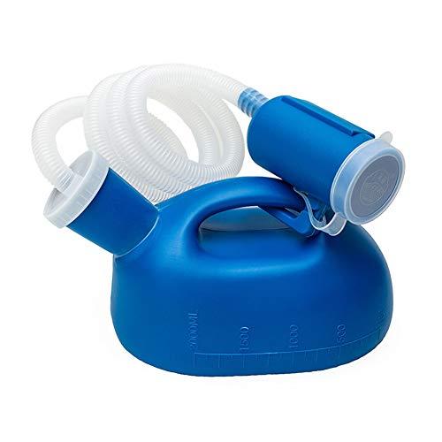 NHFF 2000 ml Urin-Flasche, wiederverwendbar Portable Male Urinal mit Rohr Alten Mann Kammertopf Männlich Urinal Kammertopf Bettpfanne Bett Urinal Topf Hospitalisierung
