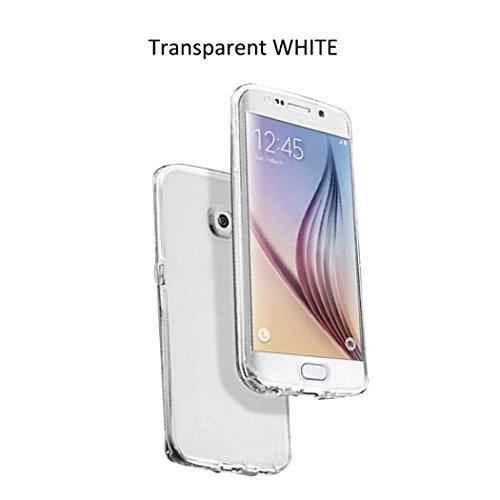 Transparent Soft TPU silicone Crystal Custodia Case per Samsung Galaxy S7 Edge G9350 Smartphone - Guizen Full body Ultra Sottile Clear Protettiva Bumper Anti Slip Case Fronte retro Protector Shell skin cover-Trasparente