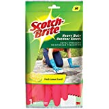 Scotch-Brite Heavy Duty Gloves (Medium)(Red)