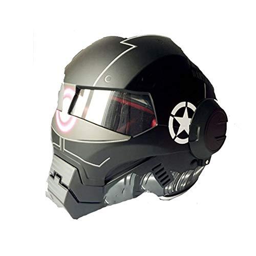 Shuhong Casco De Moto Casco Iron Man Moto Medio Casco