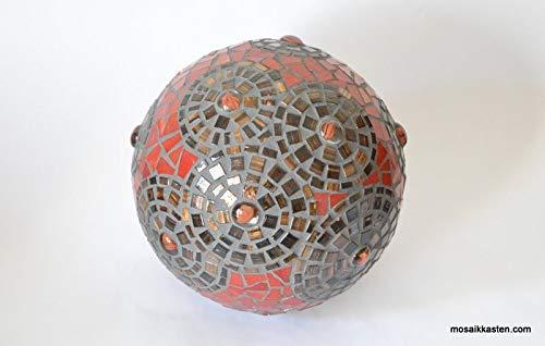 Rosenkugel rot braun gold 18 cm Roseball - handgemacht