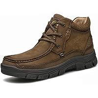 Gfphfm-shoes Calzado de Hombre, Botas de Nieve de Gamuza Otoño Invierno Vintage Botas británicas Senderismo Zapatos Mantenga cálidos Botines Botines al Aire Libre (Color : Segundo, tamaño : 41)