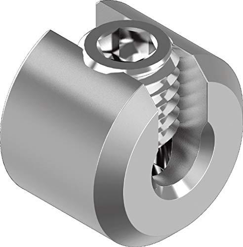 ARBO-INOX Seilstopper Drahtseil Klemme Drahtklemme Drahtseil Edelstahl VA4 (6 mm Seil)