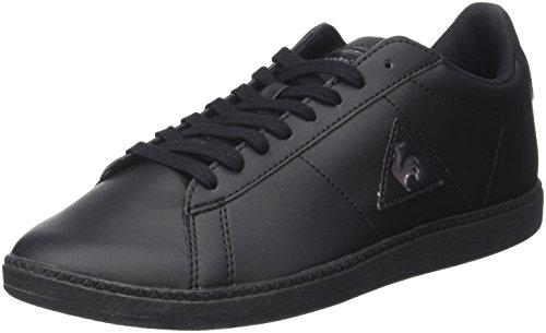 Le Coq Sportif Courtset S Lea, Formatori Bassi Unisex-Adulto Nero (Black/dark Full Gray)