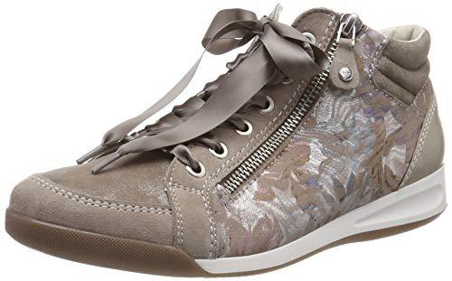 ARA Damen ROM 1234410 Hohe Sneaker, Beige (Taupe, Fossil 24), 41 EU
