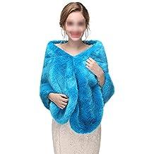 Avvolgere la sciarpa Sciarpe da sposa da donna con collo scialle invernale  da donna Stole Poncho caldo per poncho festa nuziale per abito da sposa  invernale ... 60a1ca1d60a4