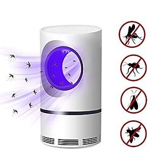 LIGHTOP Elektronische Moskito Mörder Lampe LED Ungiftig UV Licht Insektenvernichter Multifunktions Fliegenfalle Lampe strahlungsfreies sicheres USB Gerät mit Schutz Super Silent