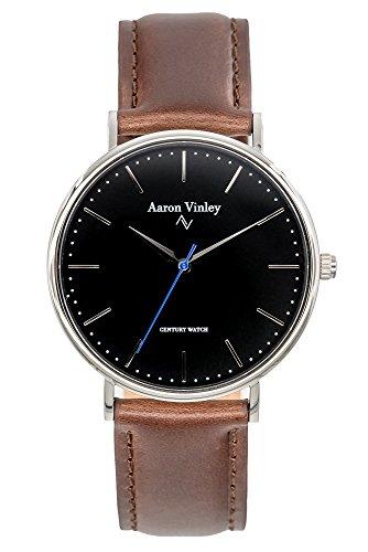 Aaron Vinley Uhr | Kopenhagen Serie - Schwarz | Kratzfestes Saphirglas |...