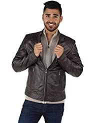 Oakwood - Blouson Oakwood Agency en cuir ref_cco39660-marron