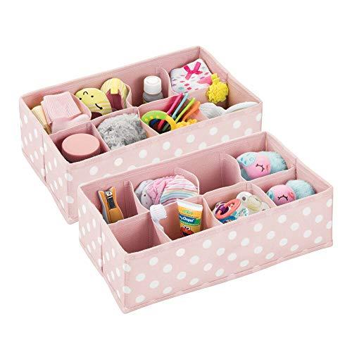 mDesign Juego de 2 Cajas de almacenaje para Habitaciones Infantiles o baños...