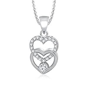 Valentine Gifts MEENAZ LOVE PENDANT DUAL HEART BEAUTIFUL LOCKET FOR GIRLS AND WOMEN VALENTINE...