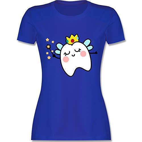 (Karneval & Fasching - Süße Zahnfee - M - Royalblau - L191 - Damen T-Shirt Rundhals)