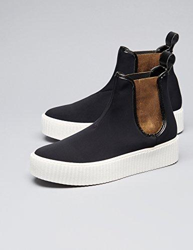 Trouver Sneaker Con Plateau Donna Nero (noir)