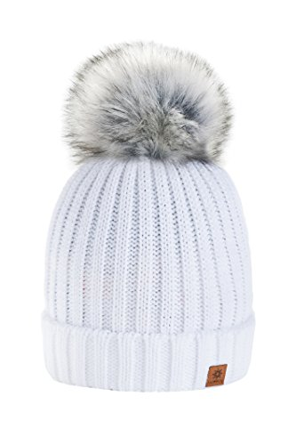 7689115071d 4sold-Rita-Womens-Girls-Winter-Hat-Wool-Knitted-Beanie-with-Large-Pom-Pom- Cap-SKI-Snowboard-Hats-Bobble