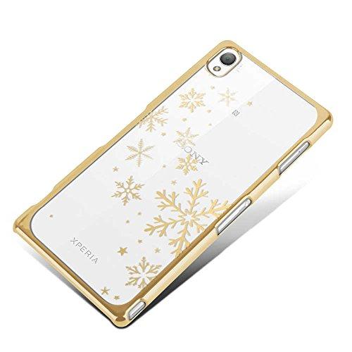 Apple iPhone 5 / 5s Handyhülle / Schutzhülle inkl. Displayschutzfolie im Design : die kleine Fee Gold Schneeflocken Gold+Touchstift