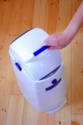 Geruchsdichter Windeleimer Diaper Champ regular blau – für normale Müllbeutel - 17