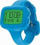 Converse Understatement - Reloj digital de mujer de cuarzo con correa de silicona azul (alarma, cronómetro) - sumergible a 30 metros