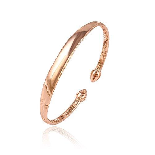 Xuping Gioielli–Bracciale aperto placcato oro rosa donna Taglia Unica