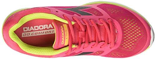 Diadora X Run W, Chaussures de Course Femme Rouge (Rosso Flame/vd Acido/nr Fumo)