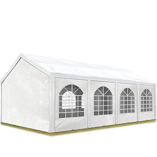 TOOLPORT Tente de réception 3x9 m, Toile de Haute qualité 240g/m² PE Blanc Construction en Acier galvanisé avec raccordement par vissage