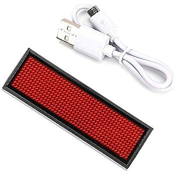 rote LED Scrolling-Zeichen-Abzeichen LED-Tag-Anzeige Brett 110-240V LED-Namensschild