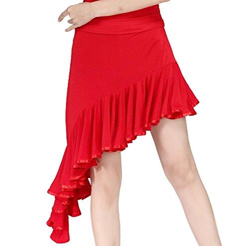 Wgwioo Asymmetrische Gebänderten Schwalbenschwanz Akrobatik Aufführungen Von Latein Tanzen Rock . Red . (Frauen Kostüme Schwalbenschwanz)