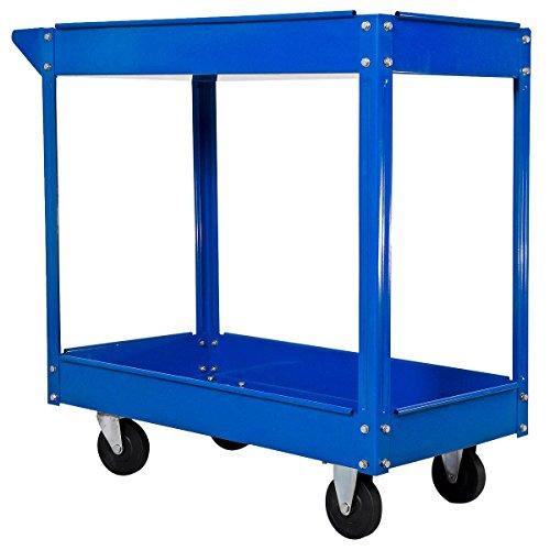 Werkstattwagen Werkzeugwagen Rollwagen 2 Etagen Montagewagen Werkstatt Blau - 4