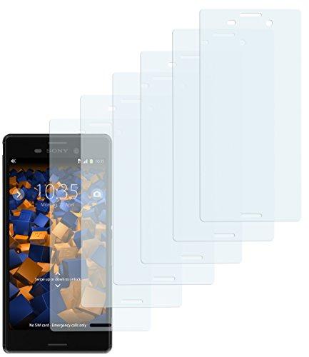 mumbi Schutzfolie kompatibel mit Sony Xperia M4 Aqua Folie klar, Bildschirmschutzfolie (6x)