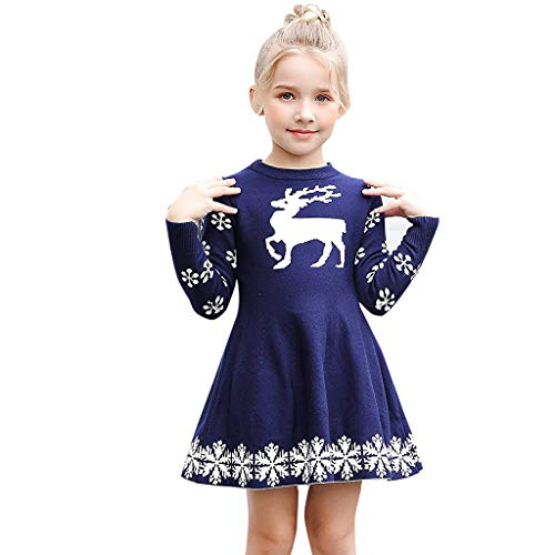 Riou Weihnachten Baby Kleidung Set Pullover Outfits Winteranzug Kinder Baby Mädchen Deer Gestreifte...