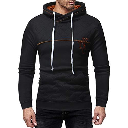 ❤️Sweatshirt Hommes Amlaiworld Hommes Sweat à Capuche à Manches Longues et à Carreaux Pull à Capuche Sweatshirt Outwear Tops Slim fit Sweat Pullover
