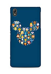 Amez designer printed 3d premium high quality back case cover for Sony Xperia Z2 (Disney Art Character Cute Illust)
