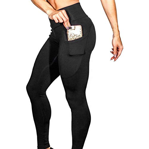 Sport Leggins für Damen Sporthose Damen Stretch Workout Leggings Yoga Hosen lang Jogginghose Damen schwarz Yoga Hosen Fitnesshose Dünne Hosen Eva (Schwarz-C, M)