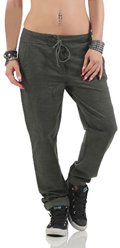 malito Sweatpants im Strick-Muster Baggy 7396 Damen One Size (Bis Sixties Kleid)