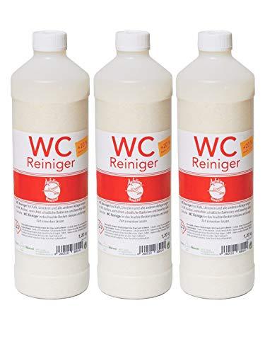 Aufstieg Qualität WC Reiniger Pulver 3x 1,2 kg Multipack (3,6kg) | Wirkformel mit Aktiv Schaum | Zur Reinigung von WC´s, Toiletten und Urinalen | Deutsches Qualitätsprodukt