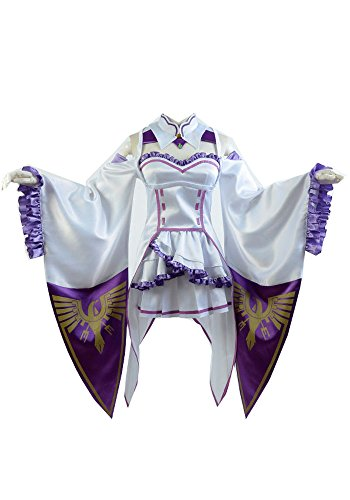 Preisvergleich Produktbild Fuman Re:Zero Life in a Different World from Zero Emilia Outfit Cosplay Kostüm Damen S