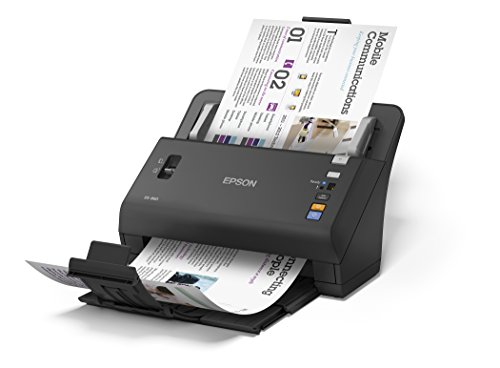 Epson WorkForce DS-860 Hi Speed Sheet-Fed Color Document Scanner 80 page Auto Document Feeder (ADF) Duplex (B11B222201)