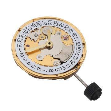 MASUNN Mechanische Automatikuhr, Kalender, hohe Präzision, Ersatz für Armbanduhr für Eta 2824, gold, 1