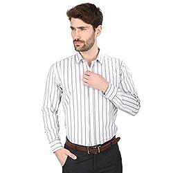 Big Tree High Quality Fabric Cotton Stripe Shirt (Size Medium) (Color-Black)