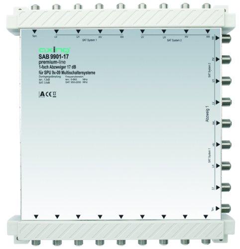 Axing SAB 9901-17 1-Fach Abzweiger (17 dB, 8x Sat / 1x terrestrisch)