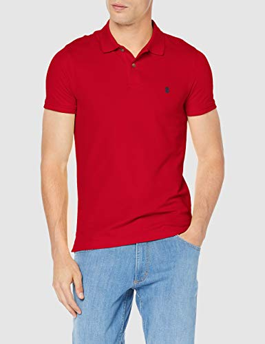 IZOD Herren Performance Pique Polo Shirt, Rot (Real Red 615), Small - Red Golf-polo-shirt