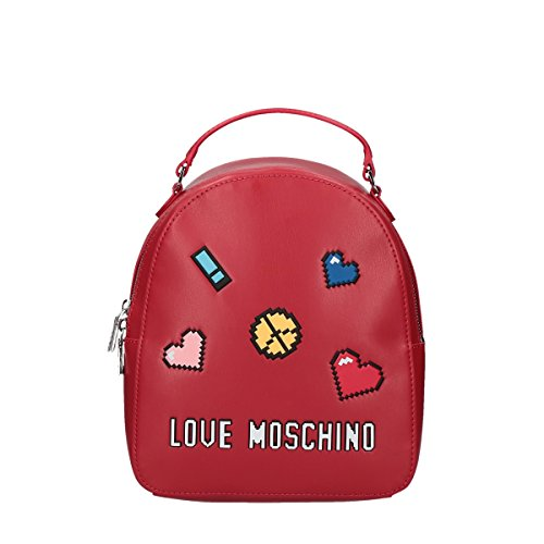 Love Moschino Pixel backpack small red