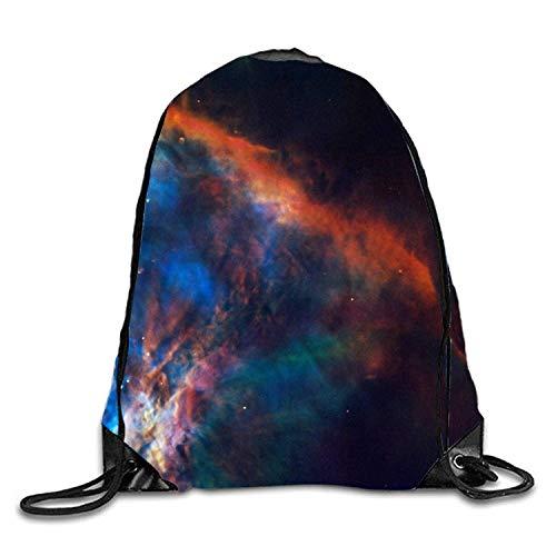 Orion Nebula Men & Women Fashion Backpacks Shoulder Bag Laptop Backpack,Sport Gym Sackpack Drawstring Backpack Bag Orion Mobile
