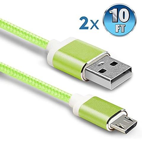 bestsounds cavo USB in 1m 1m/1,2m 1,2m/1,8m 1,8m/2m 2m/3,2m 3,2m e 3m 3M Nylon colorato micro USB a cavo USB.