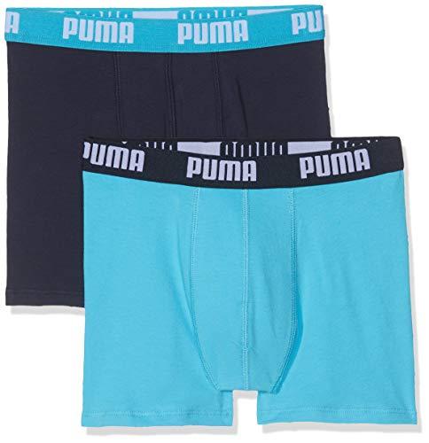Puma Basic Boxer 2p, Bañador Niños, Azul Bright