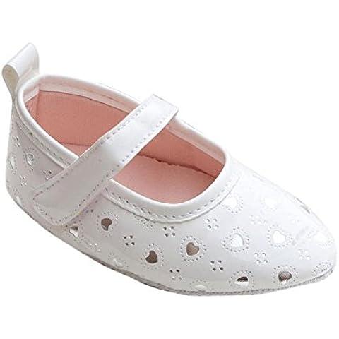 LANDFOX Los zapatos del pesebre del niño del bebé suavemente único arco Prewalker