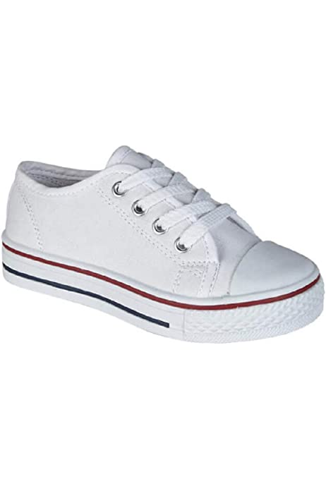 NEW Kids/' Casual Canvas Lace Up Low Top Sneaker Shoes Boys Girls Size 10 to 4